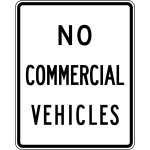 No Commercial Vehicles